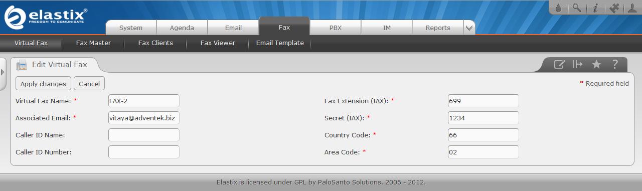 Elastix-8 ติดตั้ง AvantFAX บน Elastix
